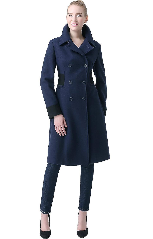 "BGSD Women's ""Ezra"" Wool Blend Colorblock Maxi Walking Coat"