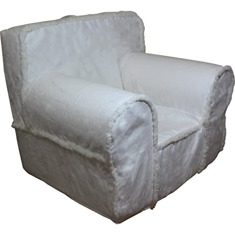 CUB CHAIRS Comfy Oversize Ivory Sherpa Kidu0027s Chair With Machine Washable  Removable Cover
