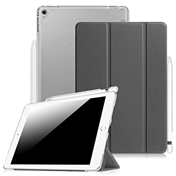 Fintie EPAD202, Funda para iPad Pro 9.7 con Soporte Incorporado de Apple Pencil, Gris (Space Grey)