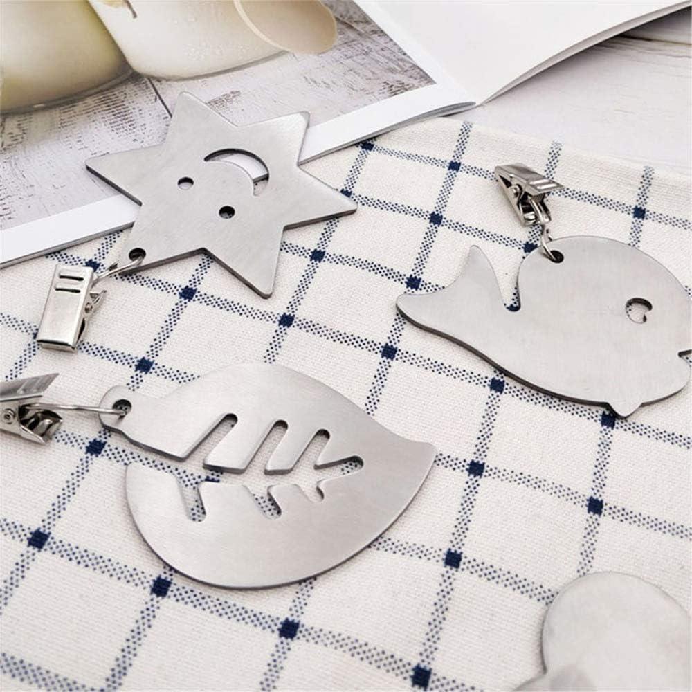 DIYARTS 8Pcs Edelstahl Tischdecke Gewichte Tischdecke Anh/änger K/üche Verdickung 2,5mm Clip-Star Leafs Fisch Designs