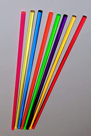 """Amber 8 Different 1//4/"""" inch Diameter x 24 INCH Long Clear Translucent Acrylic Plexiglass Plastic Lucite Rod Orange Green RED Yellow .25 Pink Purple Blue"""