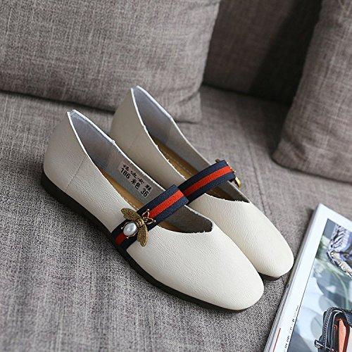 con Blanda de Cuatro luz Casual 36 XXM Yardas Minimalista Blanco Estaciones de de Mujer y 36 Zapatos Mujer Zapatos Final Shoes 40 Primeros Zapatos Zapatos al Mujer Planos Elegante los 0Pw1a80q