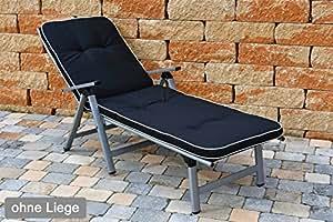 sun garden 2Liegen Cojines en Negro 189x 60x 6cm tomiro 50077–52sin Descanso