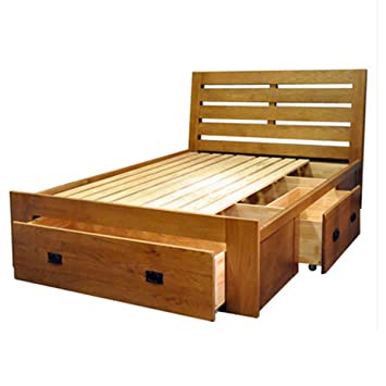 Attraktiv HuaYi Full Massivholz Möbel Weiß Bett Eiche Box Bed 1,5 M/1,