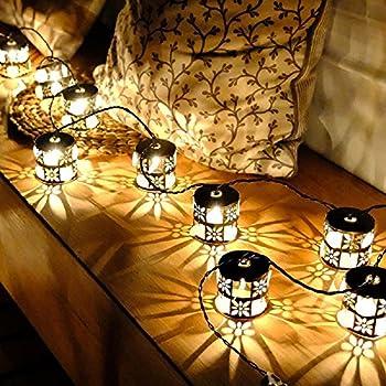 Amazon.com : Patio String Lights Oil Lantern Style Indoor Outdoor ...