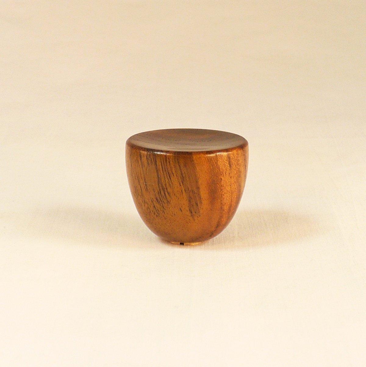 Lamp Finial, Teak, Cup Pattern 1