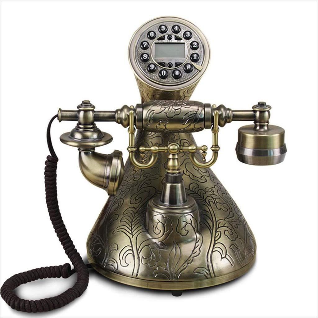 Yuanyuanliu Teléfono con Cable, Tocadiscos, Teléfono, Antiguo ...