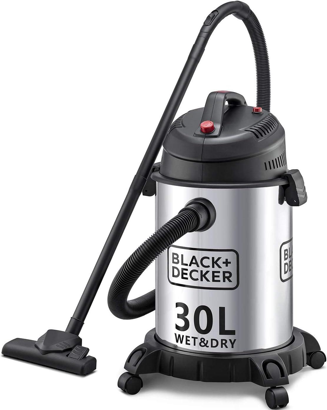 Black & Decker WV1450-B5 Wet and Dry Tank Drum Vacuum Cleaner, 1610W