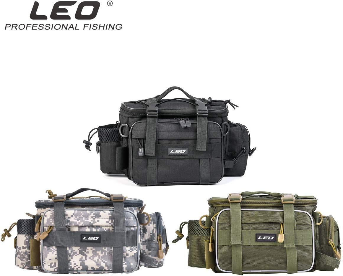 Leo Waterproof Outdoor Multifunctional Fishing Tackle Bag Water-Resistant Shoulder Bag Handbag Waist Bag Fishing Gear Storage for Fishing Hiking Climbing