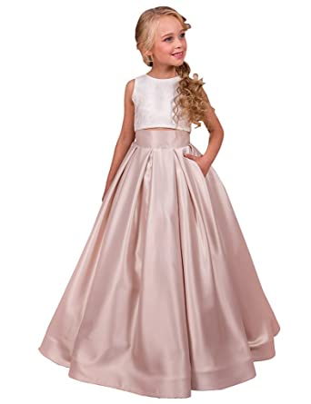 Flowerry Two Piece Girl Dress Flower Girl Prom Dress 10T