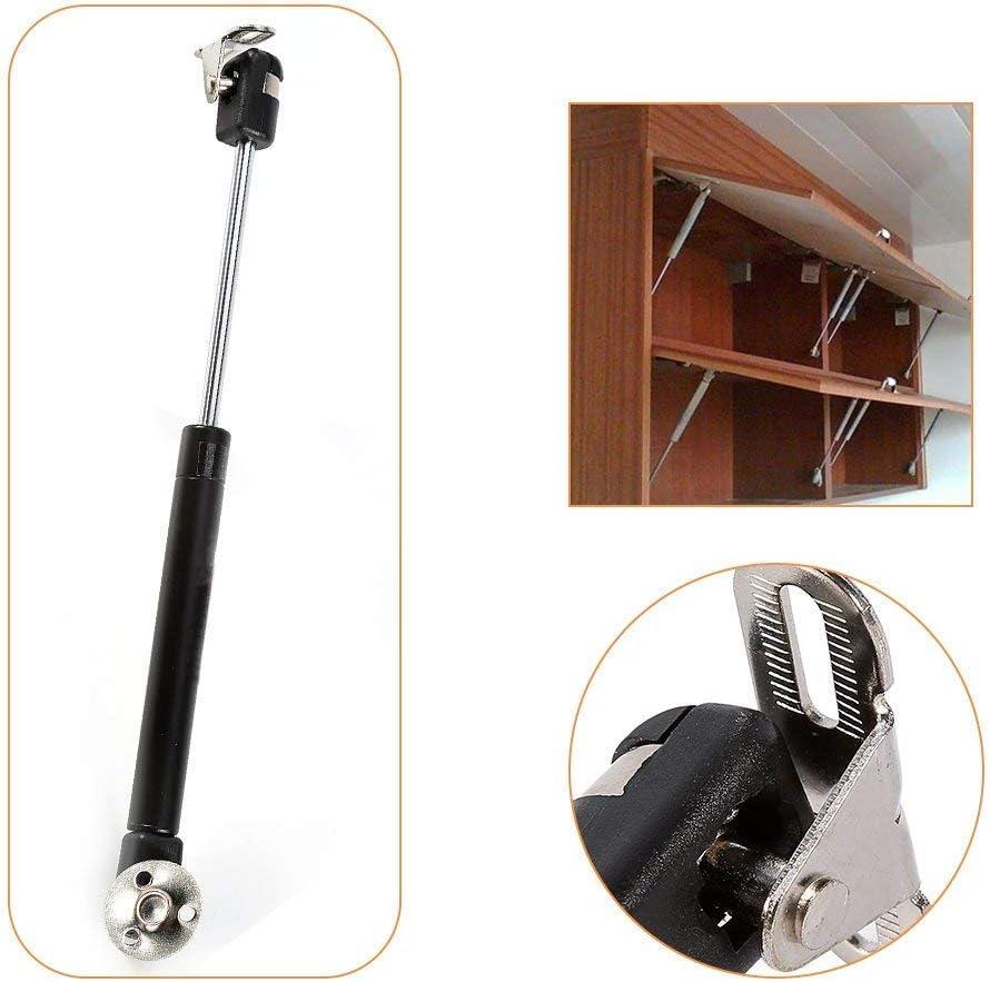 4 Pcs 100N//22.5lb Hydraulic Gas Strut Lift Support Cabinet Hinge Kitchen Cupboard Door Gas Spring Door Shocks Cabinets Hinges Silver