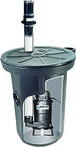 BURCAM 400423P 3/4 HP Complete Grinder Pump System with 18 x 30 Sewage Basin, Black