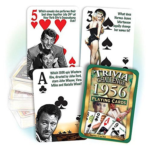 Flickback 1956 Trivia Playing Cards: Great Birthday or Anniversary Gift