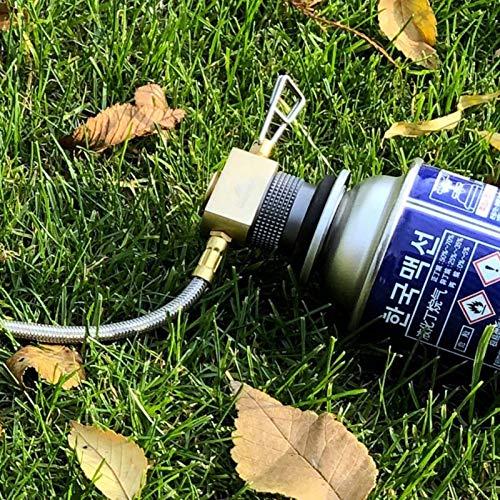 Etophigh Adaptateur de r/échaud de Camping Camping en Plein air Randonn/ée Adaptateur de br/ûleur de cuisini/ère Type de convertisseur de fournaise Convertisseur de Carburant