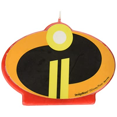 "Amscan 170519 Disney/Pixar""Incredibles 2"" Birthday Candle, Multicolor, Standard: Toys & Games"