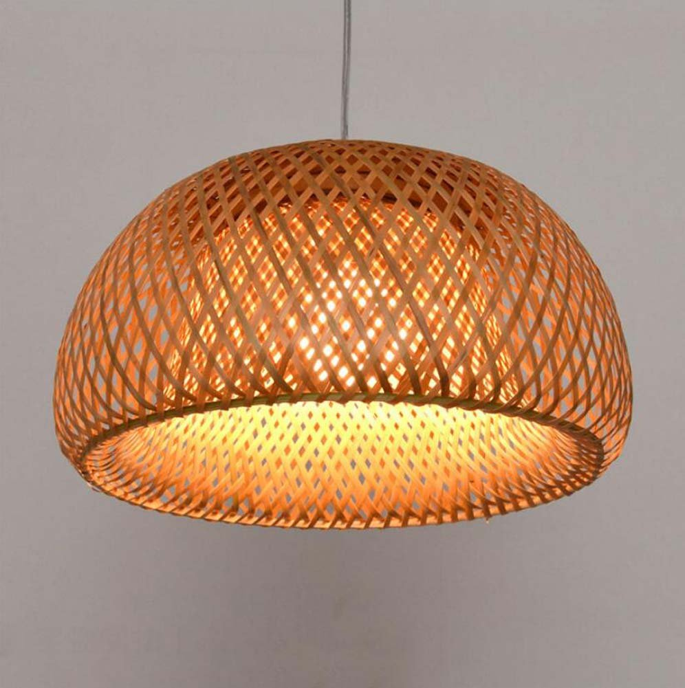 GAOLIQIN Bamboo Weave Chandelier, Bamboo Garden Simple Restaurant Living Room Bedroom Balcon Pendant Lamp, Personalized Creative Tatami Hanging Lights E27 (Without Light Source) (Size : 3018CM)