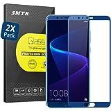 [2 Pack] SMTR® Huawei Honor View 10 Vollbild -Schutz Displayschutzfolie Folie Tempered Glass,[Einfache Installation][Scratch-resistent][Ultra Clear] 2.5D Pro Fit 0.33mm 9H Hartglas Schutzfolie für Huawei Honor View 10 DisplaySchutzglas - Blau