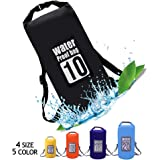 QiYue Waterproof Dry Bag Backpack Small Large 5L/10L/15L/20L/25L Double Shoulder Straps Roll Top Floating Dry Pack Sack for Water Sports Kayaking Boating Hiking Camping Swimming Travel