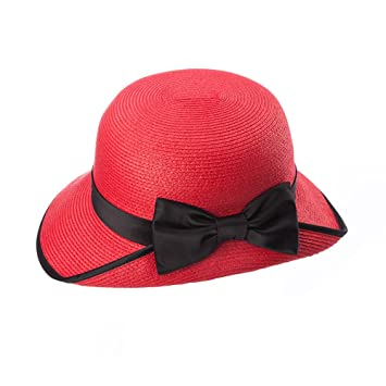 Cap ZHIRONG summer Women s outdoor Sun protection Holiday red Beach hat  Wide brimmed hat Can be 24ae81e6465