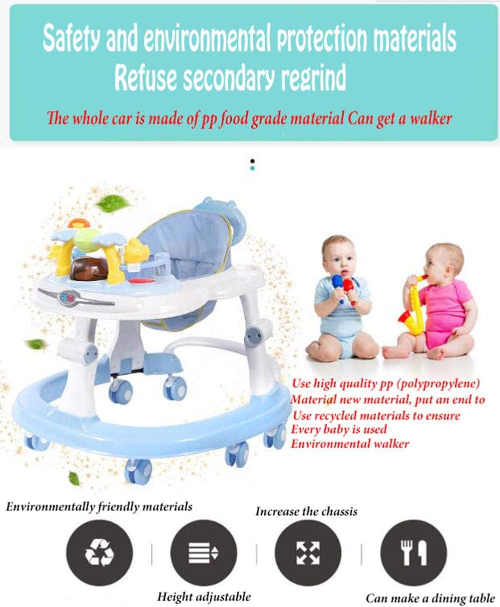 Height-Adjustable Baby Walker,Maximum Load 20 Kg,for Girls Boys 6-18Months Toddler YOLL Baby Walker with Brake Folding,Anti-O-Leg Baby Walker,Anti-Rollover Walker