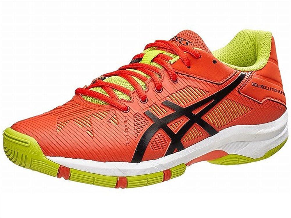 Chaussures ASICS Junior Gel-Solution Speed 3 Orange / Jaune PE 2016 MainApps