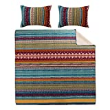 Extra Wide Comforter for King Size Bed Greenland Home 3-Piece Southwest Quilt Set, King