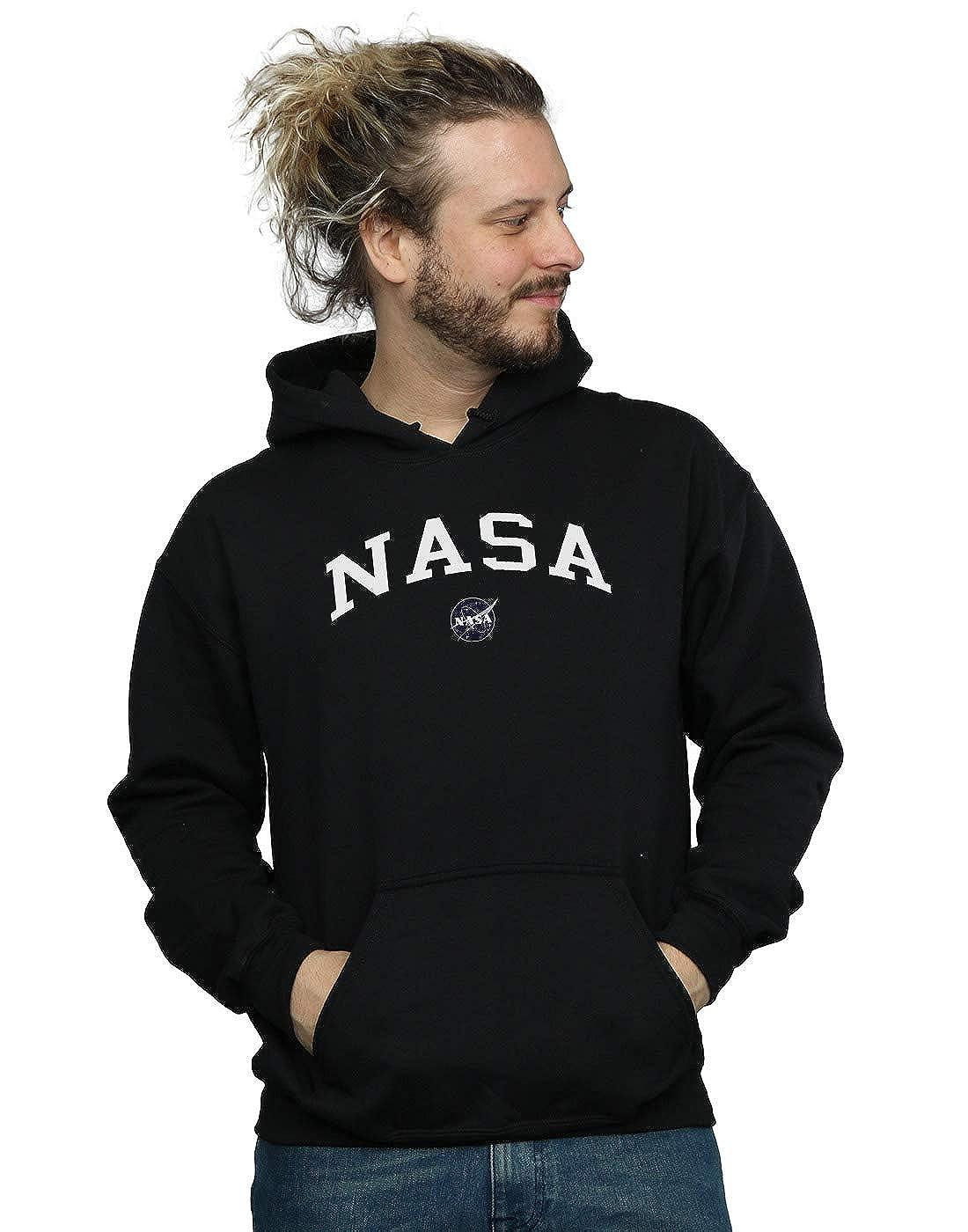 Absolute Cult NASA Herren Collegiate Logo Kapuzenpullover