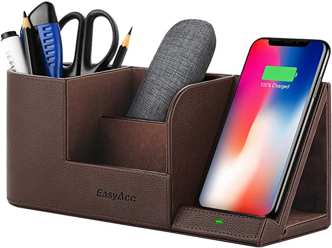 EasyAcc Wireless Charger Desktop Organizer, Qi Certified