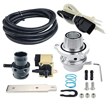 dewhel Blow Off adaptador atmosférica Dump Válvula de desviador 2.0 TFSI Audi, VW Turbo Spacer Kit: Amazon.es: Coche y moto