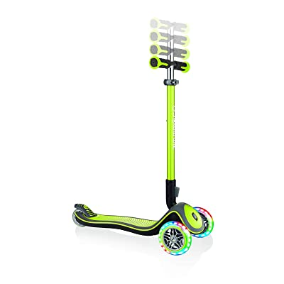 Globber Elite Deluxe with Lights 444-406 Lime Green : Sports & Outdoors