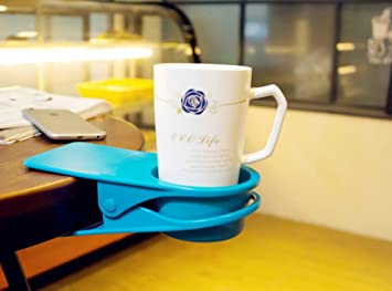 High Quality Dirza Drinking Cup Holder Clip   Clip On Office Table Desk Side To Hold  Coffee Water