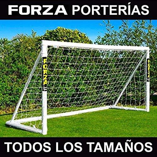 FORZA Porterías de Fútbol PVC para Jardín/Entrenamientos – Postes de Fútbol Impermeables con Red (6 Tamaños)