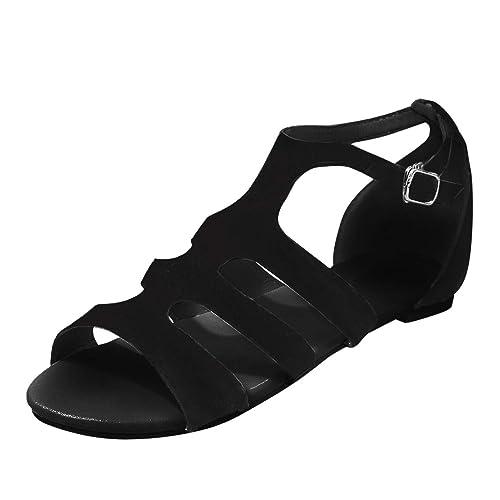 Women Roman Shoes Open-Toe Buckle Gladiator Wind Straps Toe ...
