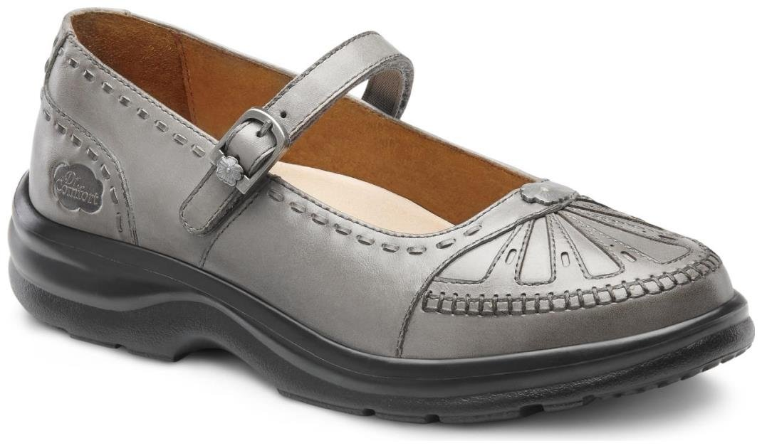 Dr. Comfort Paradise Women's Therapeutic Diabetic Extra Depth Shoe: Pewter 12 Wide (C-D) Velcro