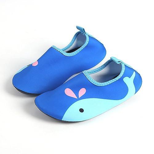 Beito Zapatos Ligeros para Niños Calcetines de Secado Rápido para Piscina de Playa 1 par Ballena
