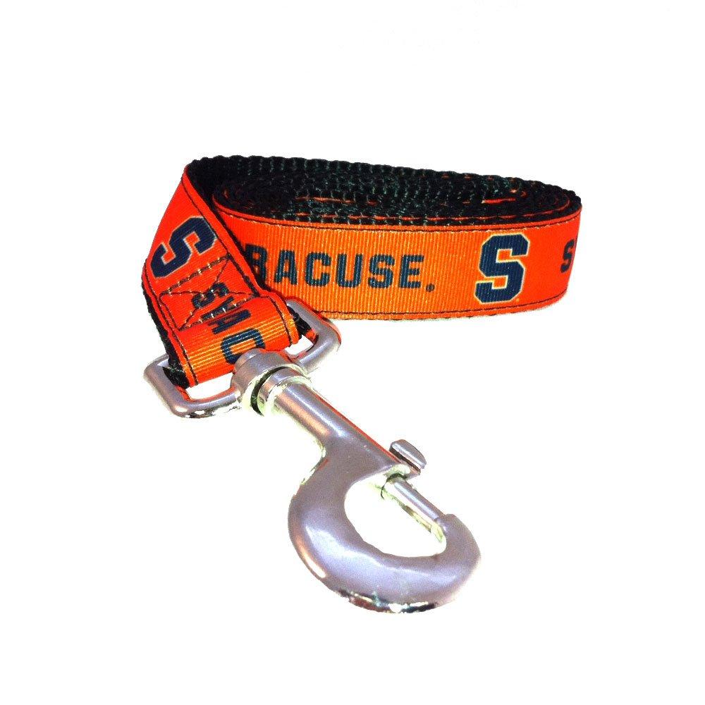 Large Team Color NCAA Syracuse Orange Dog Leash