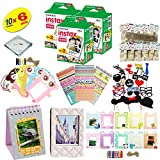Fujifilm Instax Mini 9 Camera Accessory KIT Includes - Fuji Instant Film 60 SHEETS + Over 60 PCS Premium Bundle For Fujifilm Instax Mini 8 Films