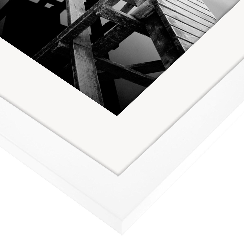 Amazon.de: 30 x 40cm Weißer Bilderrahmen mit Glasfront - Geeignet ...