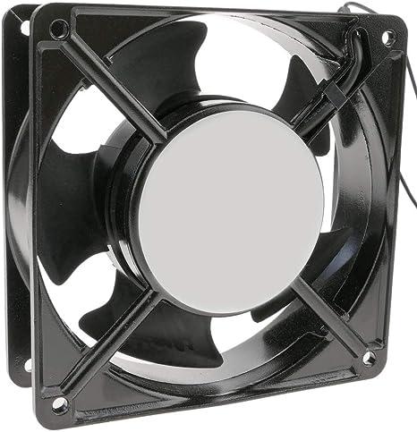 BeMatik - Ventilador de chasis 120x120x38 mm de 220 VAC para caja de ordenador con rodamiento de bolas: Amazon.es: Informática