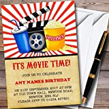 Movie Night Cinema Personalized Childrens Birthday Party Invitations