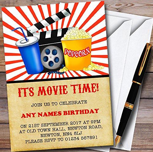Movie Night Cinema Personalized Childrens Birthday Party Invitations