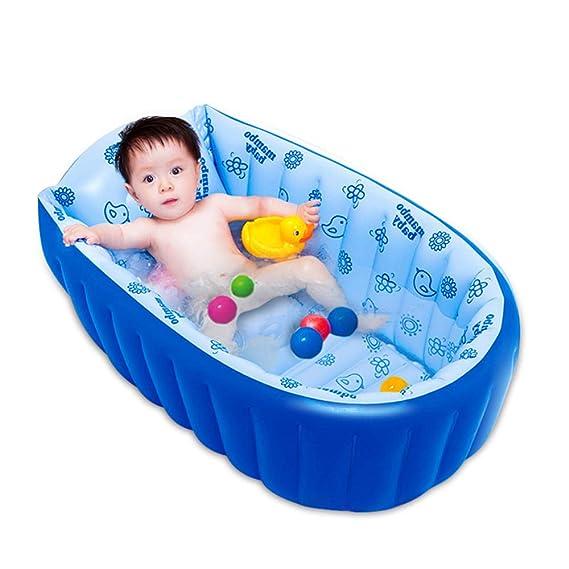 Bañera Inflable Azul para Bebés Infante Portátil para Niños ...