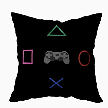 Brilliant Tomkey Couch Pillow Cases Hidden Zippered 18X18Inch Flat Gaming Concept Amp Creative Computer Game Competition Simple Decorative Throw Cotton Pillow Uwap Interior Chair Design Uwaporg
