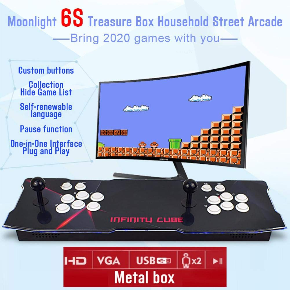Yunt 2020 HD Juegos Retro Heros 5 Moonlights Box 6s Consola de Videojuegos Arcade 3D 1280x720 Full HD 2 Jugadores Doble Joystick de Arcade: Amazon.es: ...