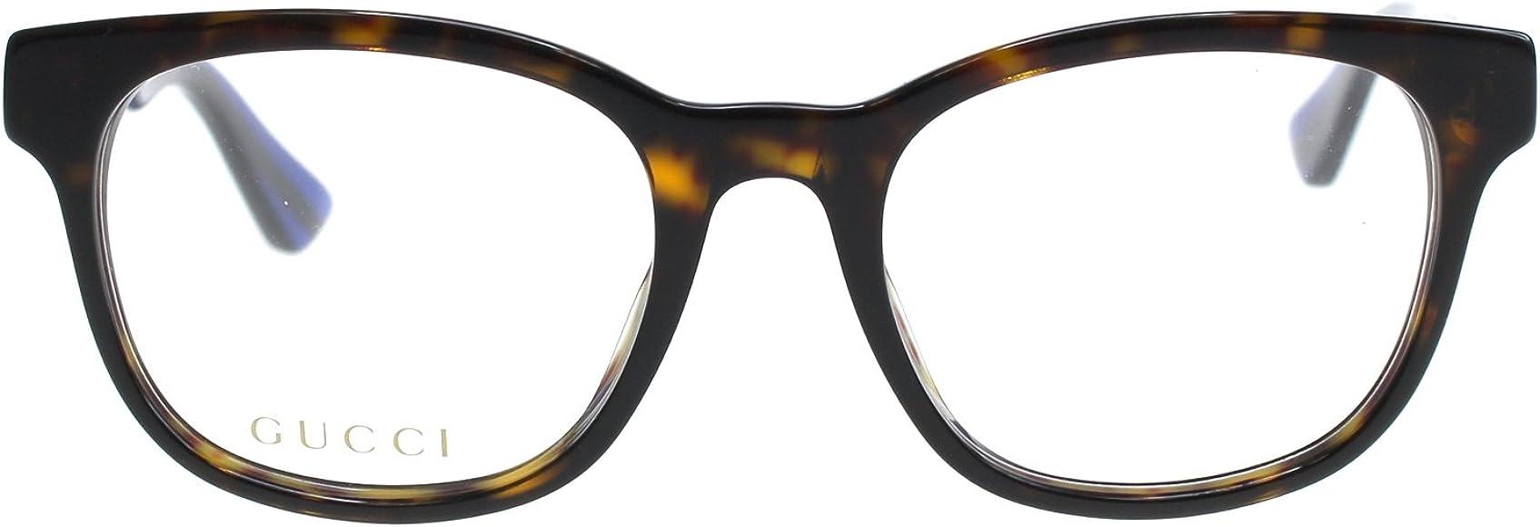 560947298eb6 Amazon.com: Gucci GG 0005O 007 Havana Plastic Square Eyeglasses 53mm ...