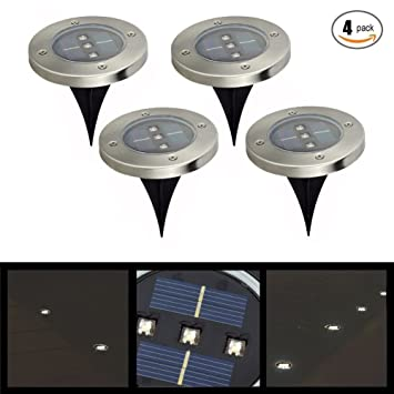 In ground lights 4 pack solar powered ground light outdoor lights in ground lights 4 pack solar powered ground light outdoor lights waterproof led solar path mozeypictures Choice Image