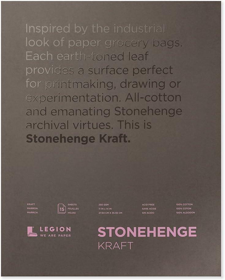 Stonehenge Paper Pad 11X14 15 Sheets//Pkg-Kraft 90Lb