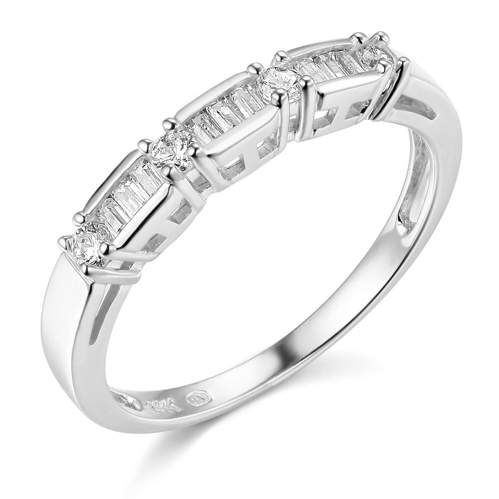 14k White Gold SOLID Wedding Band - Size 7