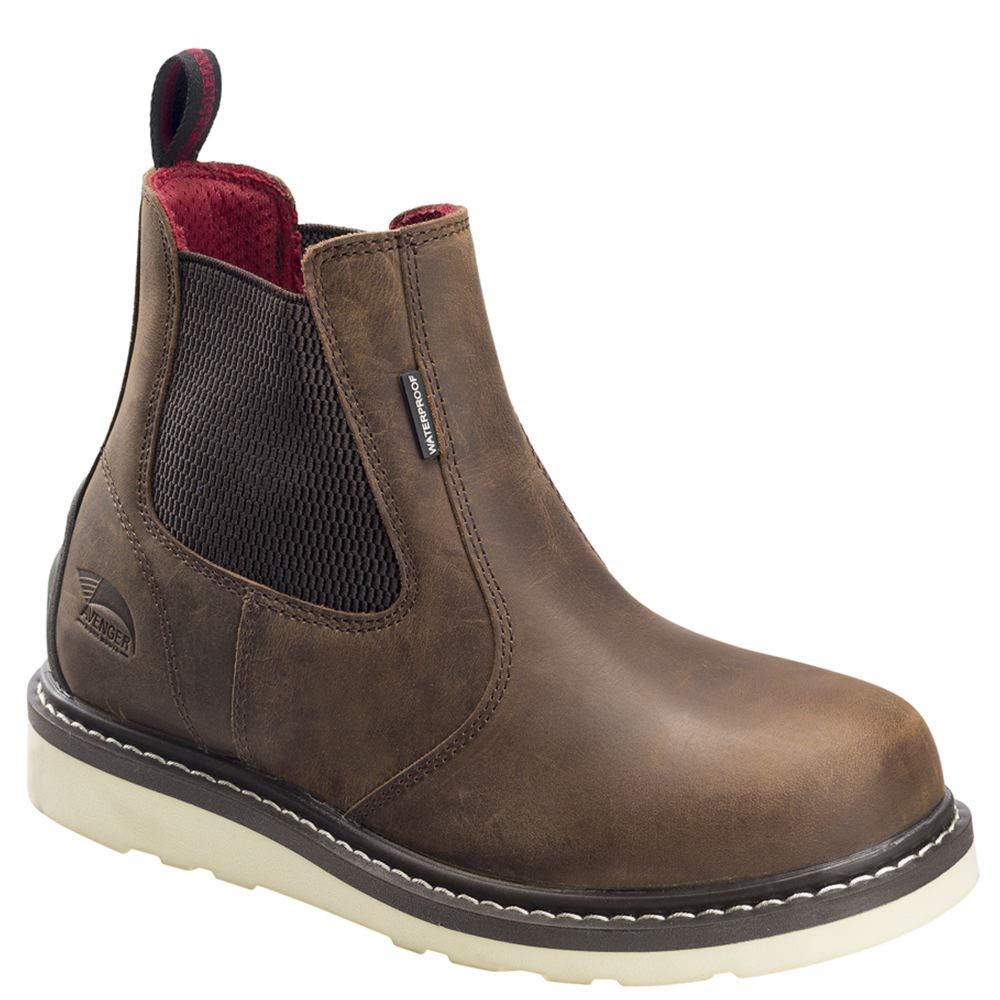 Size: 8 A7510-W-8 Avenger Wedge Chelsea Mid Soft Toe Waterproof Work Boot Width: W