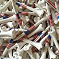 "100 3 1/4"" Pride Evolution American Flag USA Golf Tees White Wholesale"